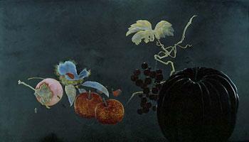 果蔬蒔絵額 柴田是真 1876年(明治9)|板橋区立美術館